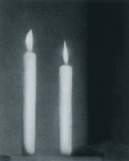 Richter Two Candles Two Candles Overpainted